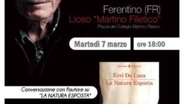 """Conversazione con Erri de Luca, ospite della Biblioteca Comunale """"A. Giorgi"""" di Ferentino"""