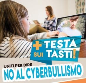 """VIDEO: """"+ TESTA SUI TASTI! PER DIRE NO AL CYBERBULLISMO"""""""