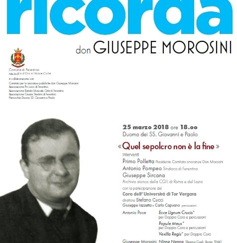 """""""Quel sepolcro non è la fine"""": 74°Anniversario Sacrificio Don Giuseppe Morosini"""