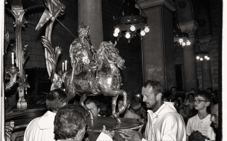 Ferentino 30 aprile 2018 Esposizione della Statua di Sant'Ambrogio Martire.