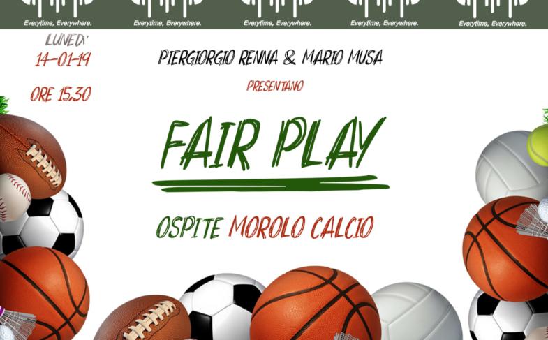 LA SQUADRA DEL MOROLO CALCIO OSPITE A FAIR PLAY