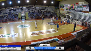BASKET FERENTINO 80 – MONTESACRO ROMA 72, PLAY OFF 1° TURNO GARA 1
