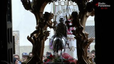 Il rientro della Processione di Sant'Ambrogio.