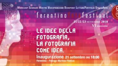 """""""Le idee della Fotografia…la fotografia come idea"""" – Ferentino Foto Festival dal 21 settembre"""
